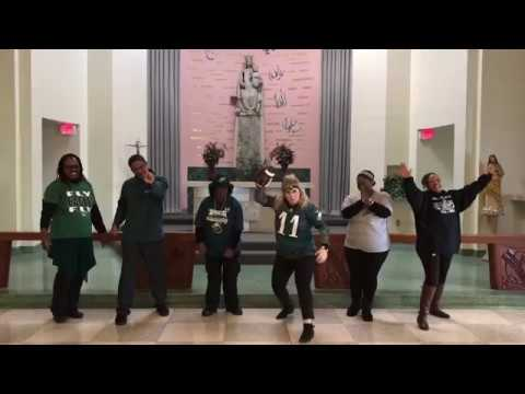 Mercy Philadelphia Hospital Choir Sings Fly Eagles Fly!