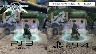 Sword Art Online Lost Song - PS3 vs. PS4 Graphics Comparison #1