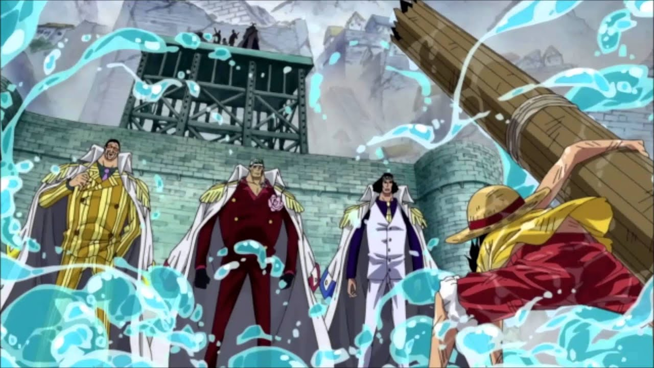 One Piece OST Facing 3 Admirals HQ - YouTube