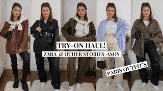 ZARA & OTHER STORIES ASOS | TRY-ON OUTFIT HAUL! + WHAT I WORE IN PARIS!