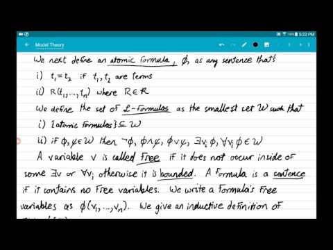 06 Atomic Formulae and Formulae, Free and Bounded Variables, Sentences
