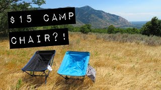 Surprisingly Good $15 Camp Chair! (Walmart Camping Gear – Ozark Trail Backpacking Chair))