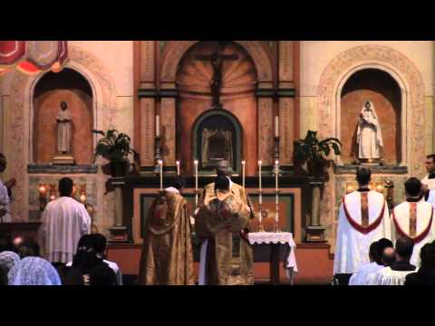 FSSP 25th Anniv Pontifical Mass - San Diego, CA (Nov. 15, 2013)