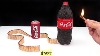 Coke Match Chain Reaction Domino effect Experiment 😱