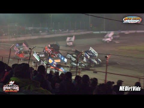 Highlights: Sprint Cars of New England at Bear Ridge Speedway 7 8 2017