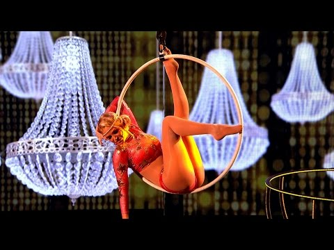 Sarah Harding Aerial Hoop Performance to 'You've Got The Love'  - Tumble: Episode 1 - BBC One