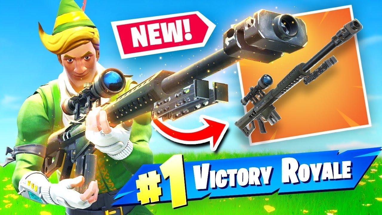 Infantry Sniper Fortnite New Heavy Sniper Rifle Gameplay In Fortnite Battle Royale Youtube
