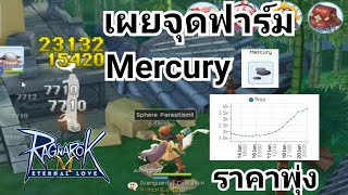 Ragnarok M เผยจุดฟาร์ม Mercury อันละ3k+ สำหรับอาชีพโจมตีระยะไกล