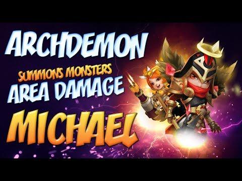 Castle Clash: Archdemon - AREA DAMAGE 800 Mil DMG NO Demo