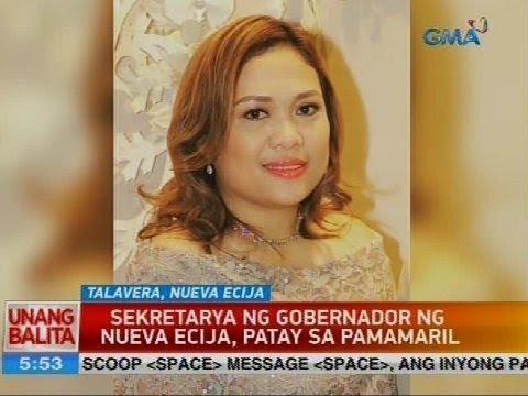 Sekretarya ng gobernador ng Nueva Ecija, patay sa pamamaril