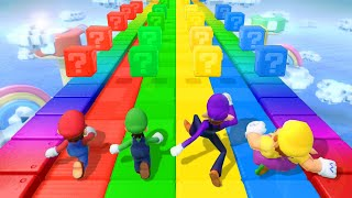 Super Mario Party MiniGames - Mario Vs Wario Vs Luigi Vs Peach (Master Cpu)