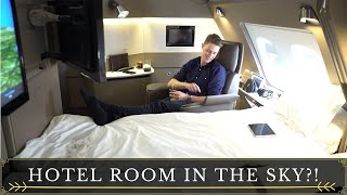 A BIG HOTEL ROOM IN THE SKY Singapore airlines First class suites 4K