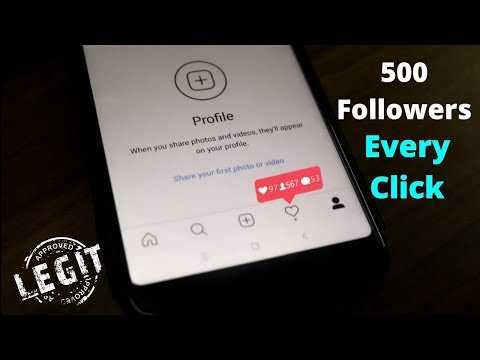How to Increase Instagram Followers 2018 | 500 Followers Per Click