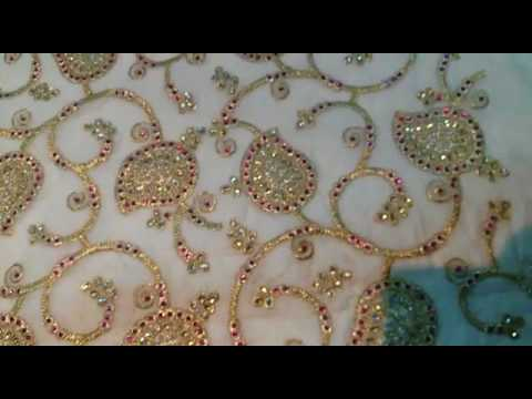 allover embroidery work machine fabric