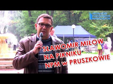 Sławomir Miłow - kandydat na wójta gminy Lesznowola - na pikniku NPM w Pruszkowie