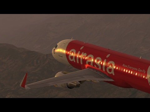 Infinite Flight Simulators broadcast. Air Asia Airlines Airb