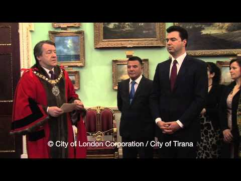 Mayor Lulzim Basha of Tirana receives the Freedom of the City of London - 23 May 2013