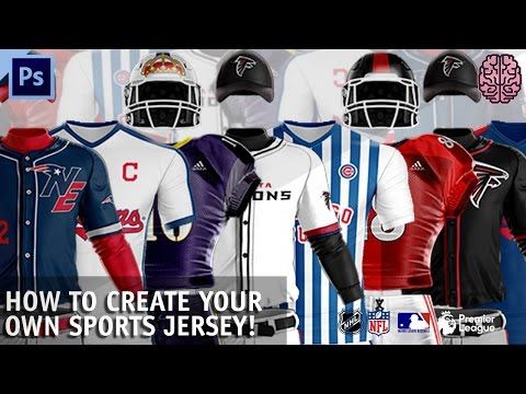 How To Create Sports Jerseys | Photoshop (Football, Soccer, Baseball) By Qehzy