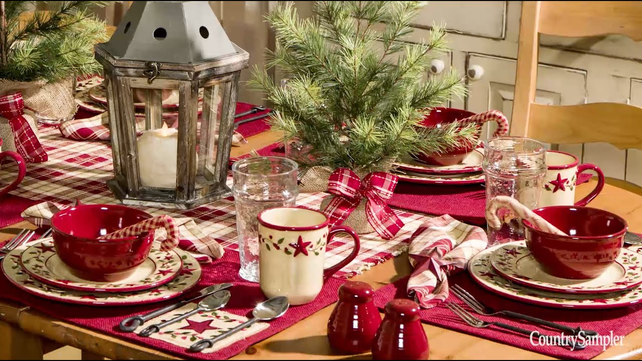 Country christmas table decoration ideas - Country Christmas Table Decoration Ideas 4