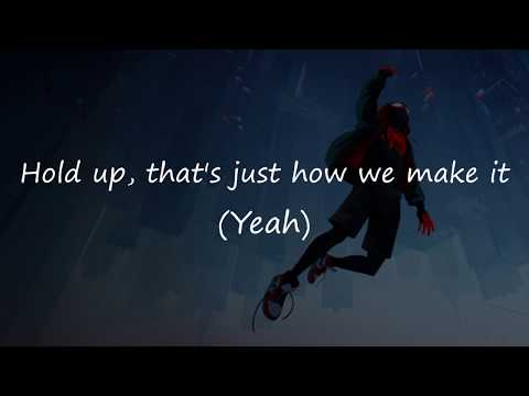 Amine - Invincible Lyrics   OFFICIAL LYRIC VIDEO   FROM SPIDERMAN INTO THE  SPIDERVERSE