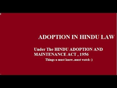 hindu adoption and maintenance act 1956 notes
