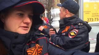 Полиция запрещает Знамя Победы в День Победы 9 мая! Пермь.
