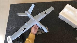 廖士儒 Z51 66cm 新手練習機 滑翔機 固定翼 遙控飛機 室內組裝 開箱影片,結論,便宜,夠大,看了很爽!!!