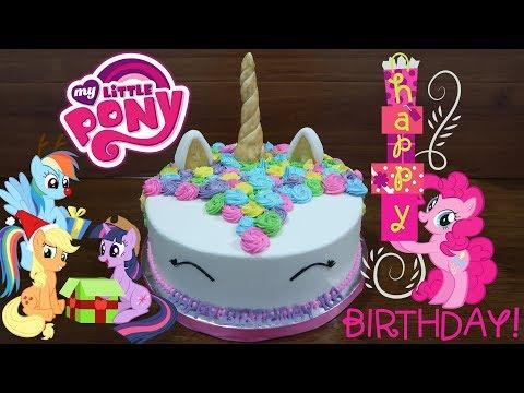 Kuda Poni Kue Ulang Tahun Anak Perempuan Happy Birthday Cake My Little Pony Youtube