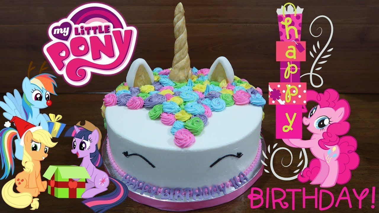 Kuda Poni Kue Ulang Tahun Anak Perempuan Happy Birthday Cake My Little Pony Youtube