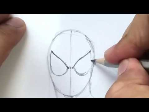 How To Draw Spider Man Face Step By Step