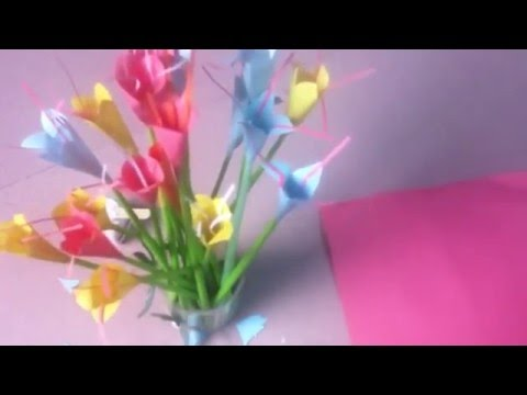 How To Make Easy Paper Flowers Step By Step