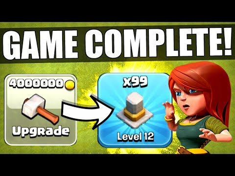 Thumbnail: I HAVE OFFICIALLY COMPLETED CLASH OF CLANS! ✅ MAX LEVEL TOWN HALL 11!