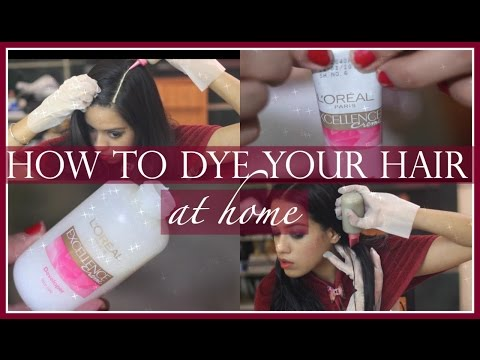How to dye asian hair brown 3 / How to do a root touch up | FunnyCat ...