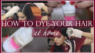 How To Dye Your Hair At Home Ft Loreal Excellence Creme | Debasree Banerjee