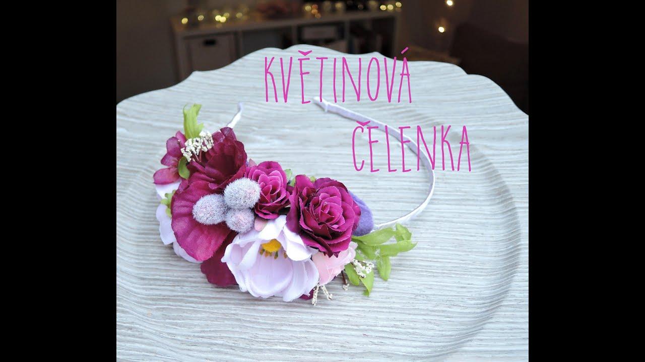 3ea023c37f1 Květinová čelenka   Květinová korunka   diy flower headband   flower crown  - YouTube