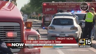Head-on wreck under investigation in Tempe