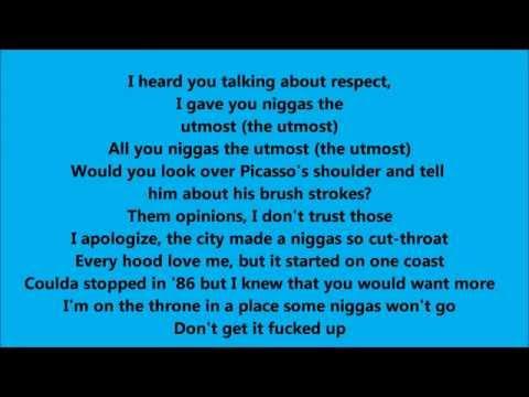 Dr Dre Deep Water ft Kendrick Lamar  Lyrics - Lyric Video