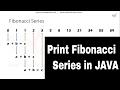 How to print Fibonacci Series in Java - Java Programs for Interview Preparation