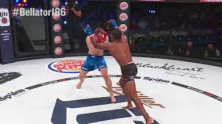 Highlight | Tywan Claxton wins by Flying Knee Knockout - Bellator 186