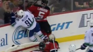 Adam Larsson Hit on Jared McCann Game Misconduct