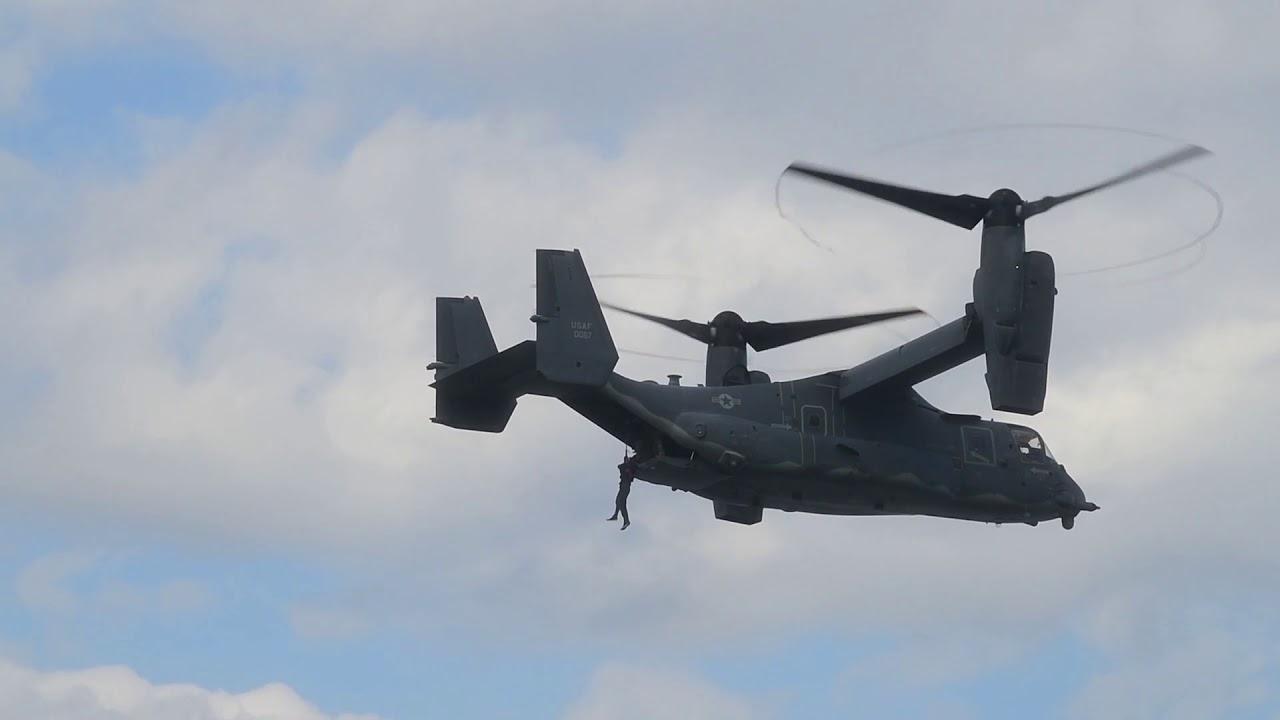 CV-22 Osprey • Hoist Training • Lake Ogawara at Misawa Air Base Japan