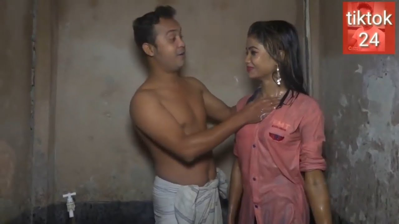 Download 18+Video Hot Sexy Girl Romance in Bathroom with her boyfriend  Showing Her Big Ass and hot boobs