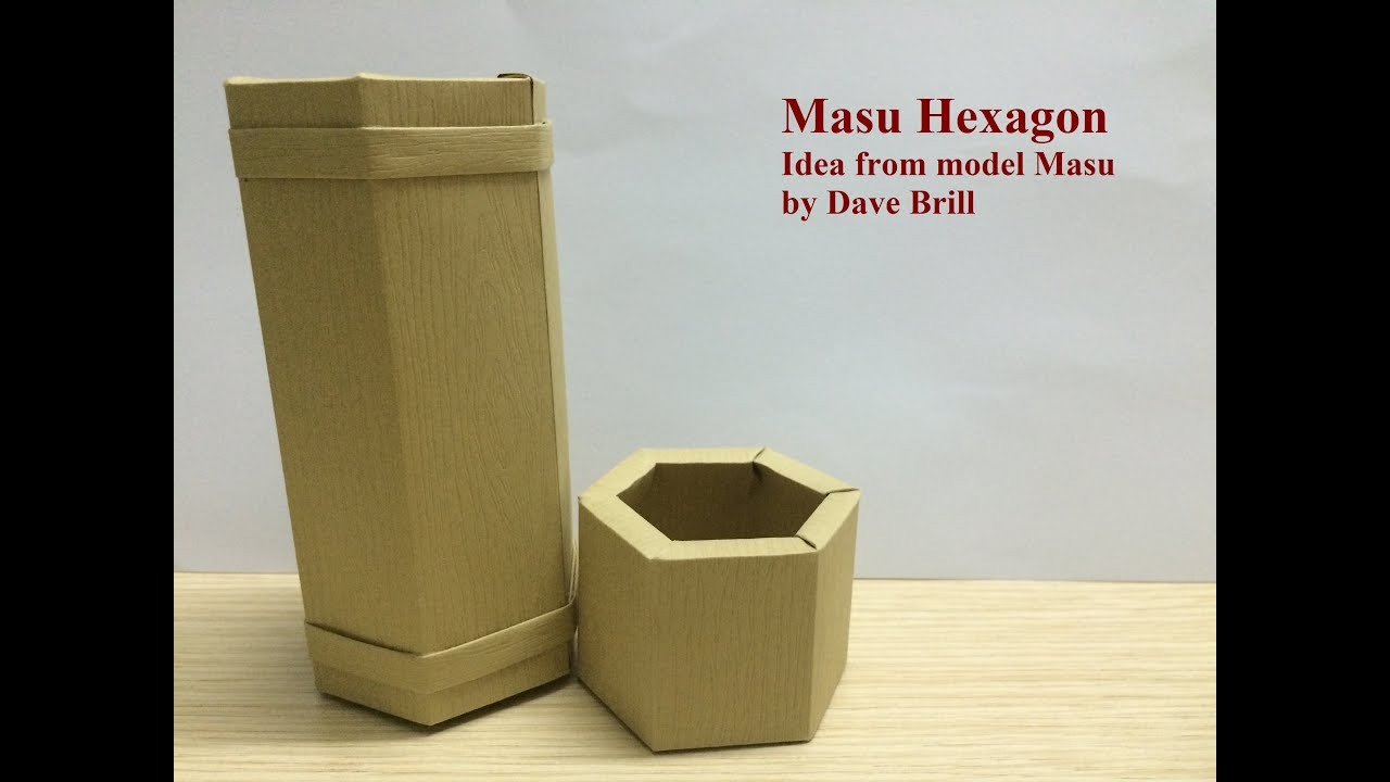 Tutorial Origami Box Masu Vase