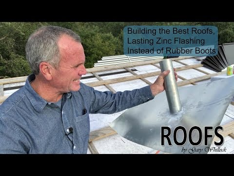 Standing Seam Metal Roof with Split Sheet Vent Pipe Flashing Installation
