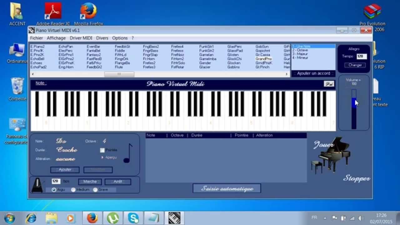 piano virtuel midi 6.1 gratuit