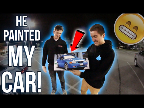 He PAINTED My MUSTANG GT!!!