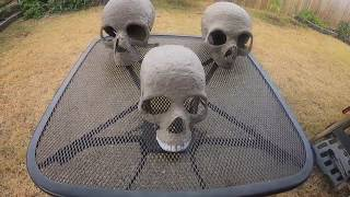 How I Make Human Skull Paper Mache