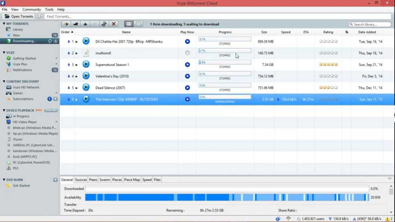 vuze torrent downloader free download