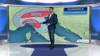 Meteo Italia: domenica forte maltempo al Centronord