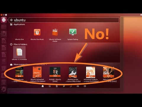 Ubuntu: How to turn off Amazon suggestions